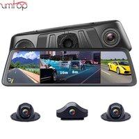 """자동차 DVR 4 채널 렌즈 4G 10 """"자동차 DVR 카메라 GPS 비디오 레코더 Android WiFi Rearview Mirror Dash Cam 특수 마운트가있는 자동 등록 기관"""