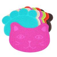Almohadilla de alfombra de gato antideslizante PVC 30 * 40 cm Anti gatos de lijado de arena alfombrillas de basura Cojines para perros Suministros para mascotas Envío gratis 3 6JN M2