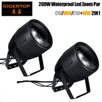 COB Zoom Par Light 200W Warm   Cold White waterproof Dj Lighting Effect Wash Light DMX 512 Controller Night Club Light Beam Projector Party