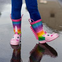 KushyShoo Rain Kids Girl Rainbow Unicorn Children' s Rub...