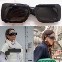 2021 ثانية المرأة سميكة ورقة نظارات أنثى مصمم نظارات شمسية لوحة لوحة الإطار الساقين بسيط الأزياء نمط uv400 نظارات 0811 مع مربع