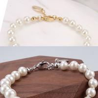 4 Farben Perle Perlen Armband Frauen Strass OBIT Armband Geschenk Für Liebe Freundin Modeschmuck Zubehör