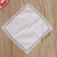 100% algodón blanco Pañuelo masculino Tabla Hankerchief sudor toalla absorbente DIY pintada Pañuelo para el bebé adulto HHA2095