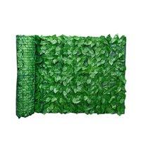 Fleurs décoratives Couronnes Vert Feuille Clôture Mur Artificielle Screen Hedge Hedge Platuronnage Fond Aménagement paysager Accueil jardin Backyard Balcon 0.5x1