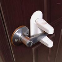 Niños Anti-apertura Safety Lock Door Manija Lock Instalación gratuita Instalación y Pegar Niños Suministros de Seguridad New Llegada 1