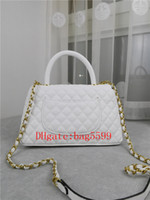 2021 Nueva marea bolso bolso bolso de lujo bolso de lujo de cuero cadena de metal bolso chica de alta capacidad Caviar Lingwen Bolsa de rejilla