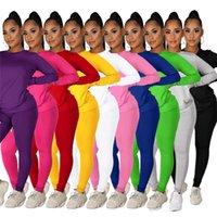 디자이너 여성 복장 긴 소매 2 조각 세트 트랙 스 슈트 조깅 셔츠 레깅스 스웨터 바지 정장 뜨거운 판매 ropa de mujer