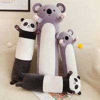 Heet creatieve 70 ~ 130 cm lange knuffels schattige koala panda kussen zachte cartoon dier gevulde kussen voor kinderen meisje verjaardagscadeau woningdecoratie