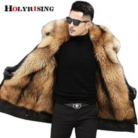 5XL Winter Parka Men' s thick cotton coat men Big Fake f...