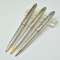 جودة عالية الفضة قلم القلم مكتب القرطاسية القرطاسية الكلاسيكية الترويج الكتابة الملء الأقلام للهدايا التجارية