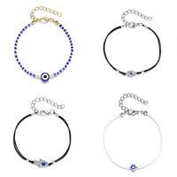 Blue Eye Braccialetto con strass Falso Braccialetti perla Donne Fashion Multi Color Catena Accessori per gioielli Originalità 2 7YH O2