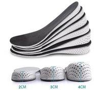 زيادة NEW نعل هايت 2-4CM غير مرئية ارتفاع الوسادة الرياضة مريح دافئ كاملة داخل الوسادة زيادة أحذية الوسادة رجل إمرأة المواد