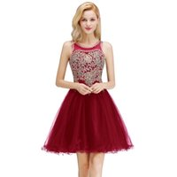 Babyonblinedress Luxury Beads Stones Lace Homecoming Dresses Sexy Open Back Lace Up Back Short Evening Prom Dresses CPS1077