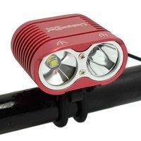 Велосипедные огни WALAFIRE Водонепроницаемый 2 * XM-L2 светодиодный светильник передний фонарь велосипед MTB езда на велосипеде 4000LM езда безопасности ультра яркая голова