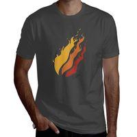 Preston ateş erkek pamuk kısa kollu t-shirt rahat yuvarlak boyunlu. Siyah