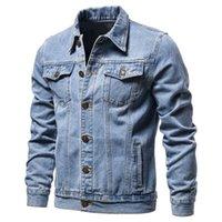 Novo algodão jaqueta jaqueta homens casual cor sólida lapela Única jaqueta jaqueta de jaqueta de jaqueta outono outono magro Fit Quality Mens Jackets 201130