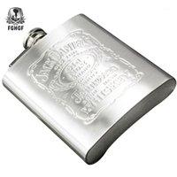 Boccetta dell'anca del whisky del whisky del vino inox 7oz di alta qualità per la tasca portatile di viaggio Bottiglie di alcool regalo di birra Rum1