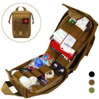 Taktische Molle Erste-Hilfe-Kit Survival Bag 1000D Nylon-Notentasche Militärische Outdoor-Reise-Taille-Packungs-Camping-Lebensrettungs-Koffer Y200920