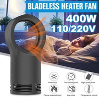2 Gear Bladeless Heater Fan Desktop Table Winter Electric Wa...