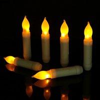 Wedding Electronic Valentine LED Taper Velas Velas Familia Cena de Candlelight Decoración