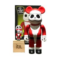 28 cm Bearbricks Aksiyon Oyuncak Rakamlar 400% Noel Korku Gece Emaye Malzeme Action Figure Oyuncaklar Kaws Ev Dekorasyon