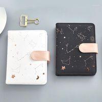"""""""Constellation Faux Leather"""" Bonito Mensal Daily Planner Alinhado Estudo Notebook Journal Papelaria Viagem Gift1"""