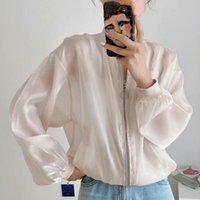 2020 fashion clothing Women Bomber jacket Women Coat Long Sl...