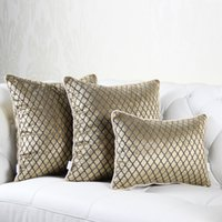 Couvercle de coussin de velours de Velvet de luxe grille décorative Chenille Coussin Coussin House Décoration de la maison Coussins 40x60cm Taie d'oreiller T200624
