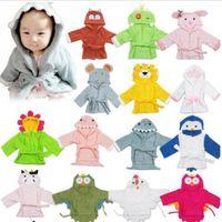 Coton bébé pyjamas drôle 3D bande dessin animé imprimé vomissures de mode enfant peignoir hiver épaissi rambade de lit chaud wy388