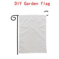 10pcs 2020 sublimation Blank Jardin Drapeau Drapeaux Jardin Amérique chauffent l'impression tranfert Jardin bannière bannières blanc taille 30 * 45cm