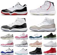 Nike Air Max Retro Jordan Shoes 11 темно-синий розовый змеиная кожа баскетбольная обувь разводят Конкорд Джорджтаун space jam GG 11s Chaussures де корзина высокая и низкая для