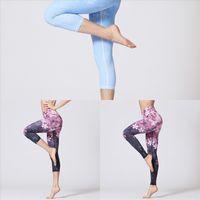 A8RQ Vertvie Style Gym Style Stampato Yoga Pantaloni Donne Cinese Sport Donna Yoga Pant Pantalone Leggings Leggings Fitness Yoga Gending Tights Pantaloni sportivi