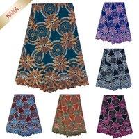 Новый Coming Африканский швейцарский Voile кружева В Швейцарии Stoned Нигерийский Тюль Кружево Ткань для платья швейцарского хлопка шнурка ткани