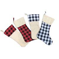 Ornamenti di Natale Regali Borse Rosso Verde Bianco plaid calze di modo calzini della decorazione 2020 Best Sellers 9 5JZ F2