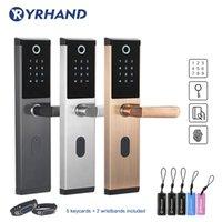 Yrhand без ключа беспроводной отпечаток пальца Smart Block Биометрический замок, умный замок дверной домой, электронный код клавиатуры дверной замок 201013