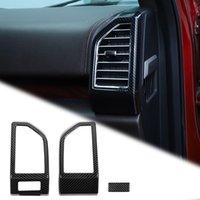 Cadre de couverture d'évacuation de la sortie d'air de la fibre de carbone de la fibre de carbone pour Ford F150 2015 Up Accessoires d'intérieur ABS