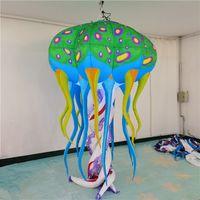 녹색 풍선 해파리 inflatables 풍선 졸리 led 스트립 및 송풍기 송아지 델리 멜리지 Dell'Arte 마스크 장식