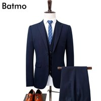 Batmo 2020 new arrival high quality Single Breasted gray casual suits men,men's wedding dress,plus-size S-3XL 1780