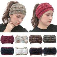Новый цвет пунктирные вязаную шапочку Расширен Empty Top Wool Cap пуловер колпачком и Hairband Шапочки