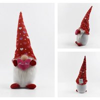 GNOME New Designer Valentines day Plush Decorations Cute Gnomes Valentines Day Gifts 3 Style About 44cm DDD4268