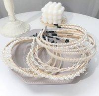 Девочек жемчуг ручки волос Кристалл Полный Pearl Hairbands Элегантный Женщины Девушки Handmade оголовье Для венчания Birthday Party Аксессуары для волос A5058
