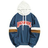 Yeni Backwoods Mektuplar Baskı Erkek Kadın Hoodies Kapşonlu Kazak Hoody Streetwear Patchwork Kazak Dropship Özel Giyim 0915
