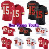 Hombres Mujeres Juveniles Fútbol 15 Patrick Mahomes 87 Travis Kelce 10 Treeek Hill Jerseys