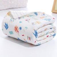 Verdicken Baby, die Decke empfangen Decke Quilt Baumwolle Neugeborene Kinder Swaddle Weiche Säuglingsdecke 6 Ebenen Baby Handtuch Kinder Swaddle Wrap1
