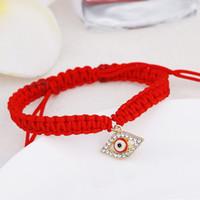 Красный Струнный браслет Слазкий глаз, красная нить судьбы, браслет из красного глаза Удачи Браслет, защитный браслет Amulet 6 N2