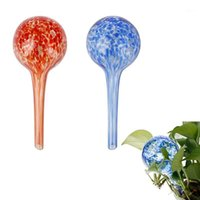 100ml 자체 자동 물방울 관개 공 게으른 급수 장치 Camouf 전구 글로브 식물 꽃 Bonsai 댑터 Garden1