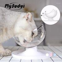 Mysudui Anti-Slip Cats Bowl para perros PET PET plato redondeado Separable Cat Agua Dispensador Cats Cuencos Alimentadores Mascotas DLA PSA1