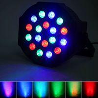İndirim 24 W 18-RGB LED Oto / Ses Kontrolü DMX512 Yüksek Parlaklık Mini Sahne Lambaları (AC 100-240 V) Siyah * 4 Hareketli Kafa Işıkları