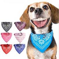 Carino regolabile Piccolo Collari dell'animale domestico del cucciolo Slobber tovagliolo del gatto all'aperto Collare Stampa sciarpa di disegno collare di cane Bandana