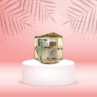 15ml Gold Silber Acryl Unregelmäßige Flasche Leere kosmetische Creme Wachs Container Glas für Extrakt